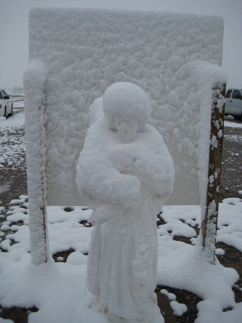 Easter snow angel