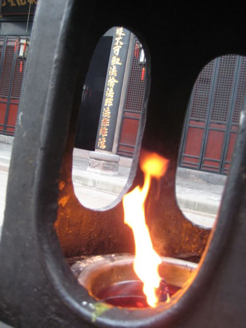 Temple flame