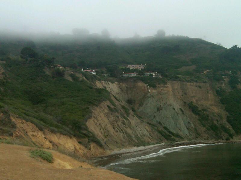 Fog on cliffs 1
